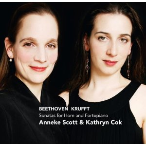 SONATAS FOR HORN & FORTEPIANO - Beethoven, Krufft, Leidesdorf & Haydn. Anneke Scott (horn) and Kathryn Coke (fortepiano).Challenge Classics.