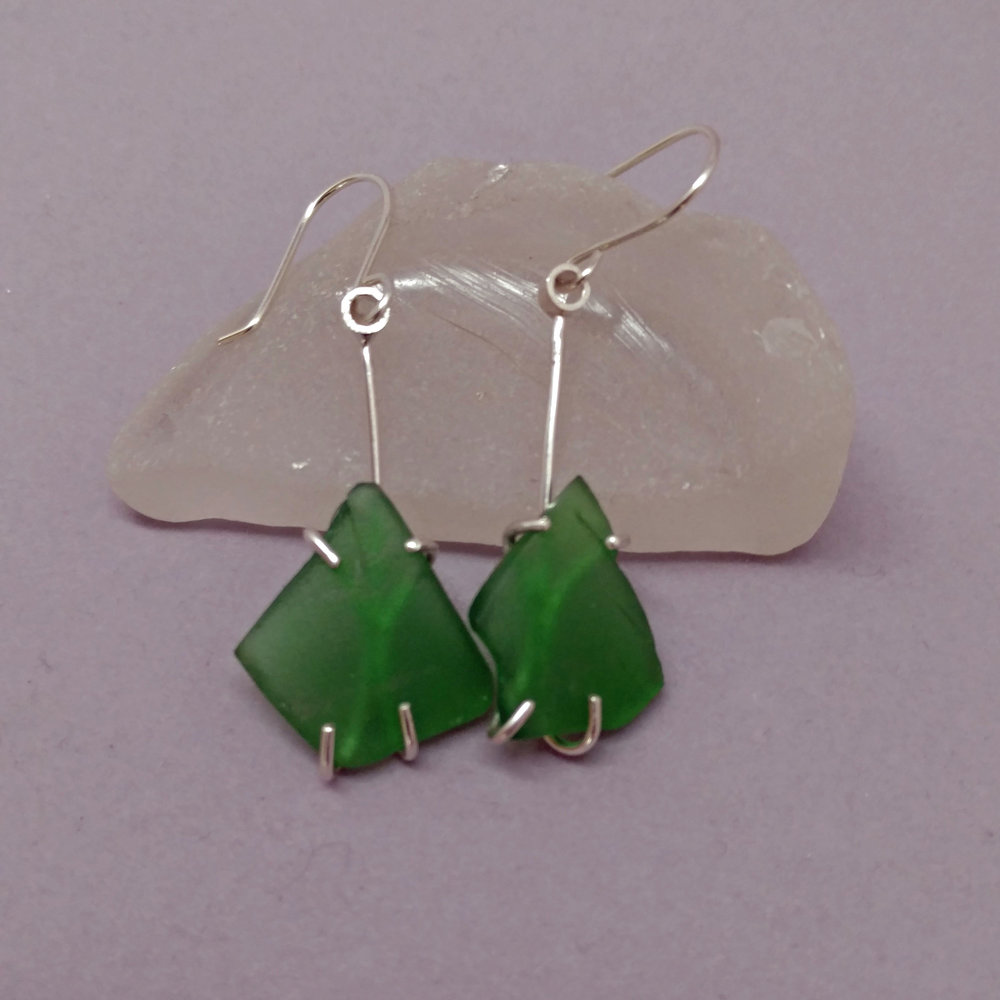 Green sea glass prong earrings.jpg