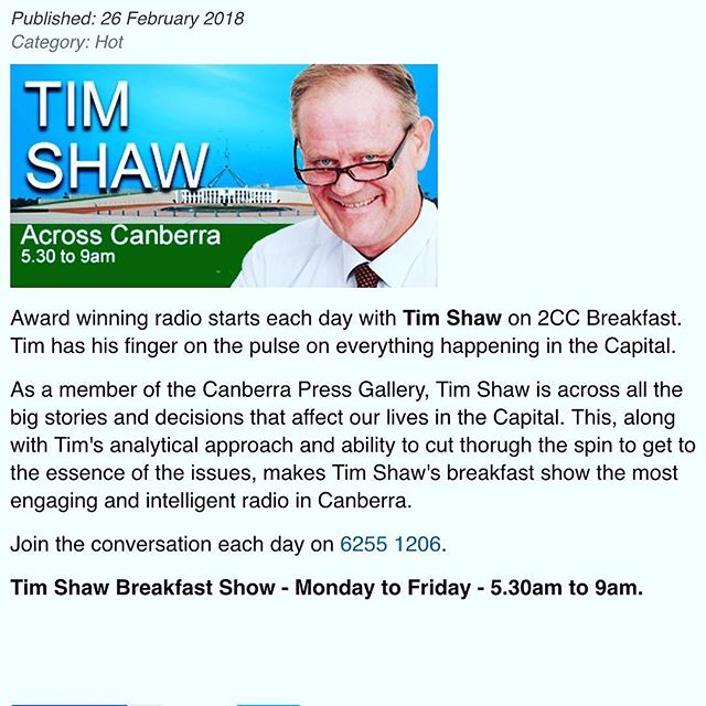 ECTP with Tim Shaw http://www.2cc.net.au/podcasts/10188-new-canberra-charity-giving-canberra-kids-a-chance-at-sport.html