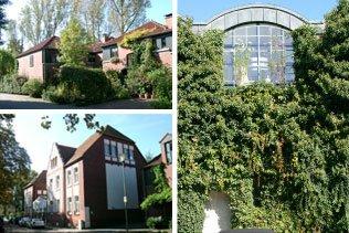 Wohnensemble Düsselaue Düsseldorf   Denkmalgeschütze Gebäude einer ehem. Buntpapierfabrik wurden mit hochwertigen Neubaueigenheimen und Lofts kombiniert. Wohnflächen von 125 bis 200 m²