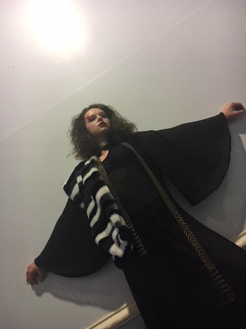Hayleigh wears our oversized kaftan