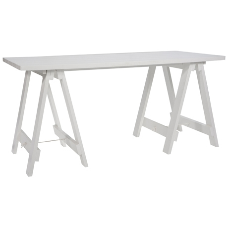 White Timber Door Top Trestle Table $27.50