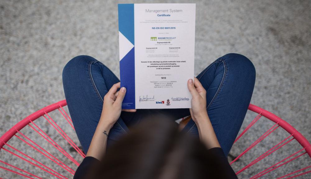 ffe96584 Sogneprodukt leverer kvalitet - ISO 9001 sertifisert — Sogneprodukt