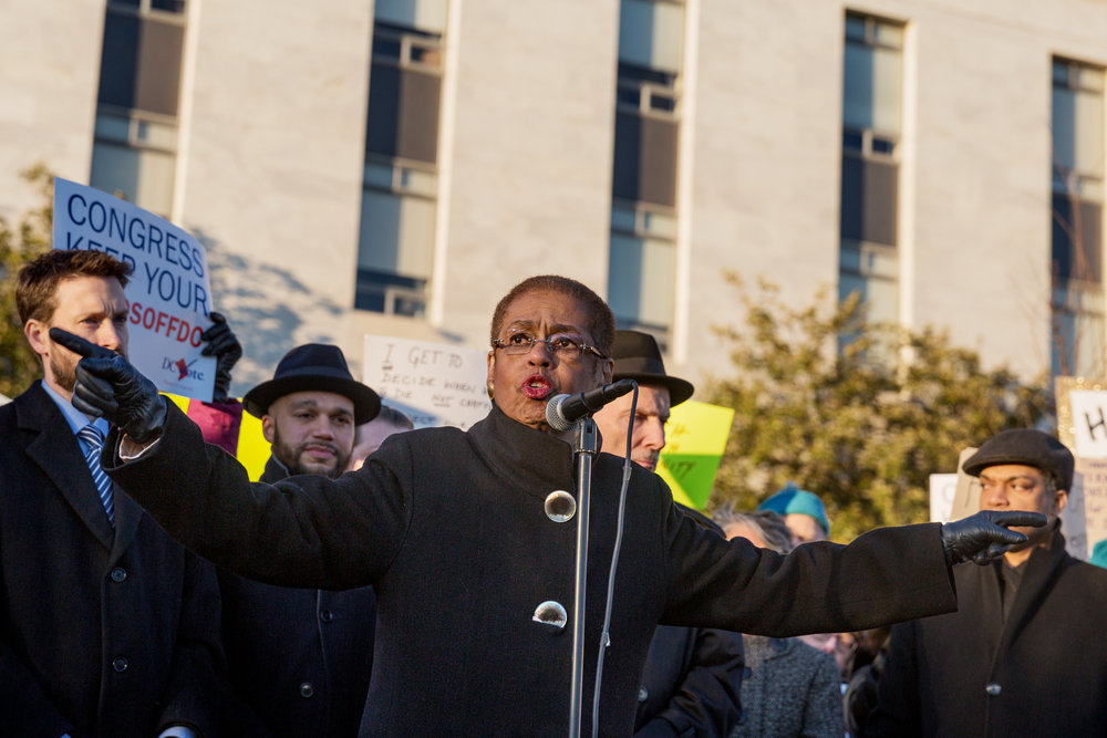 Eleanor Holmes Norton, Hands Off DC Rally
