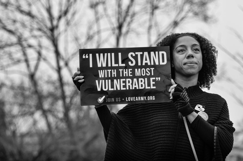 I Will Stand With The Most Vulnerable, Women's March, Washington DC 2017