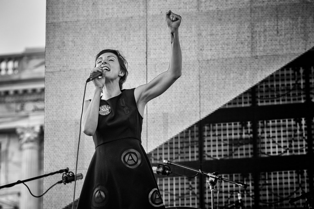 Channy Leaneagh, Poliça, singing 'Solidarity Now' at Minnesota State Capitol Grand Opening Celebration, St Paul MN