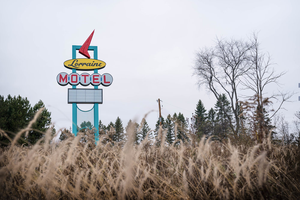 Lorraine Motel Sign Resited 2016 by Chris Larson, Franconia Sculpture Park, Shafer MN