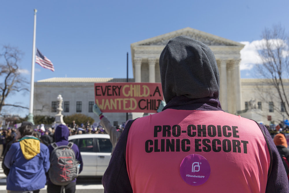 Pro-Choice Clinic Escort at the Supreme Court