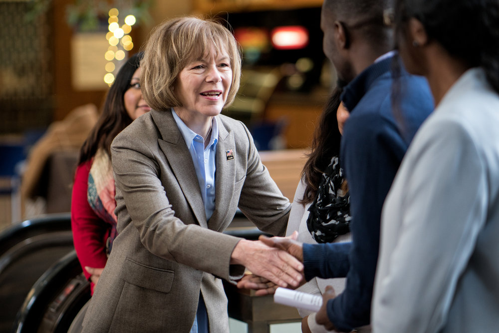Senator Tina Smith at an event in support of DACA at Hennepin County Government Center Minneapolis, MN