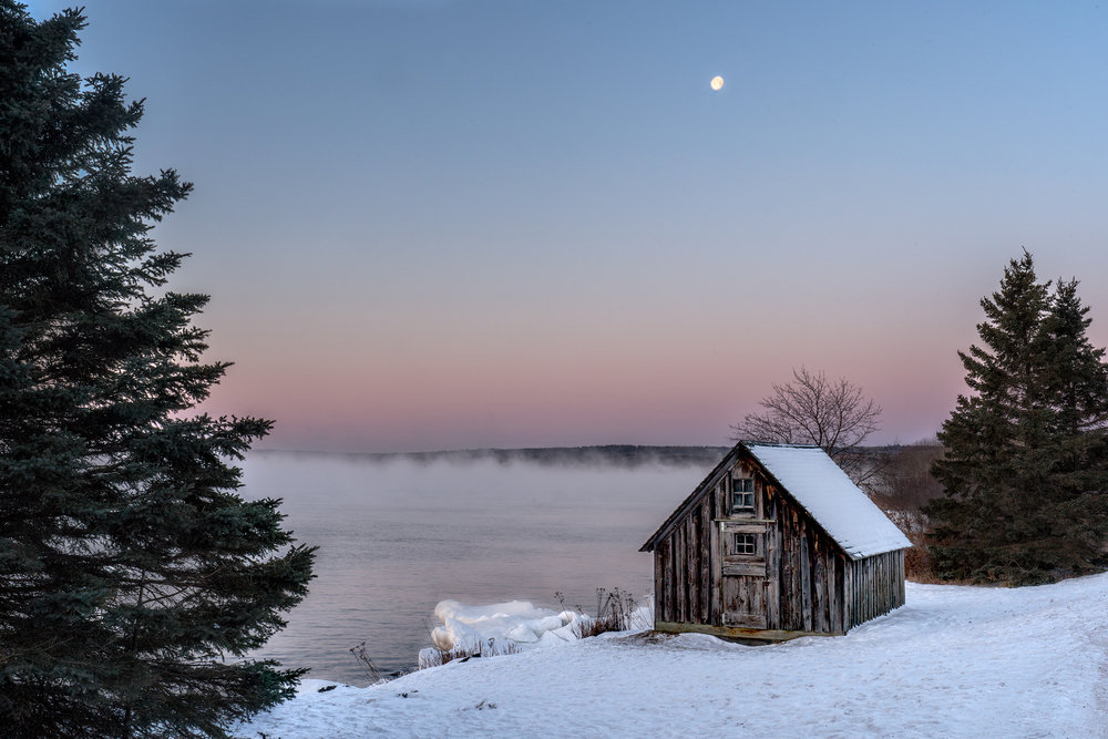 Stoney Point Cabin at sunrise, Stoney Point, MN