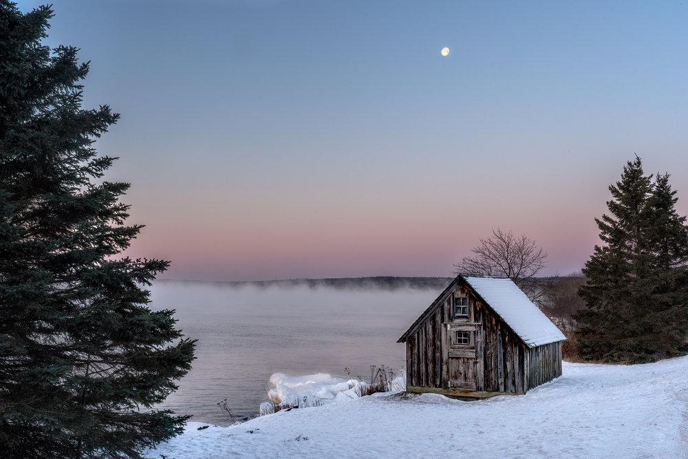 Stoney Point Cabin at sunrise, Stoney Point, MN