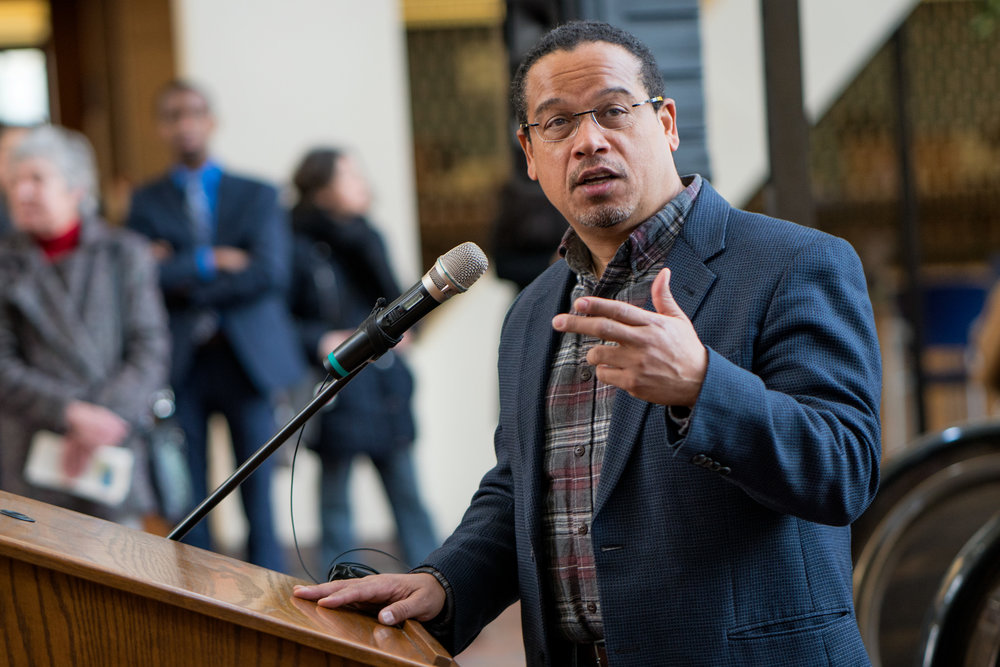 Representative Keith Ellison speaking in support of DACA at Hennepin County Government Center Minneapolis, MN