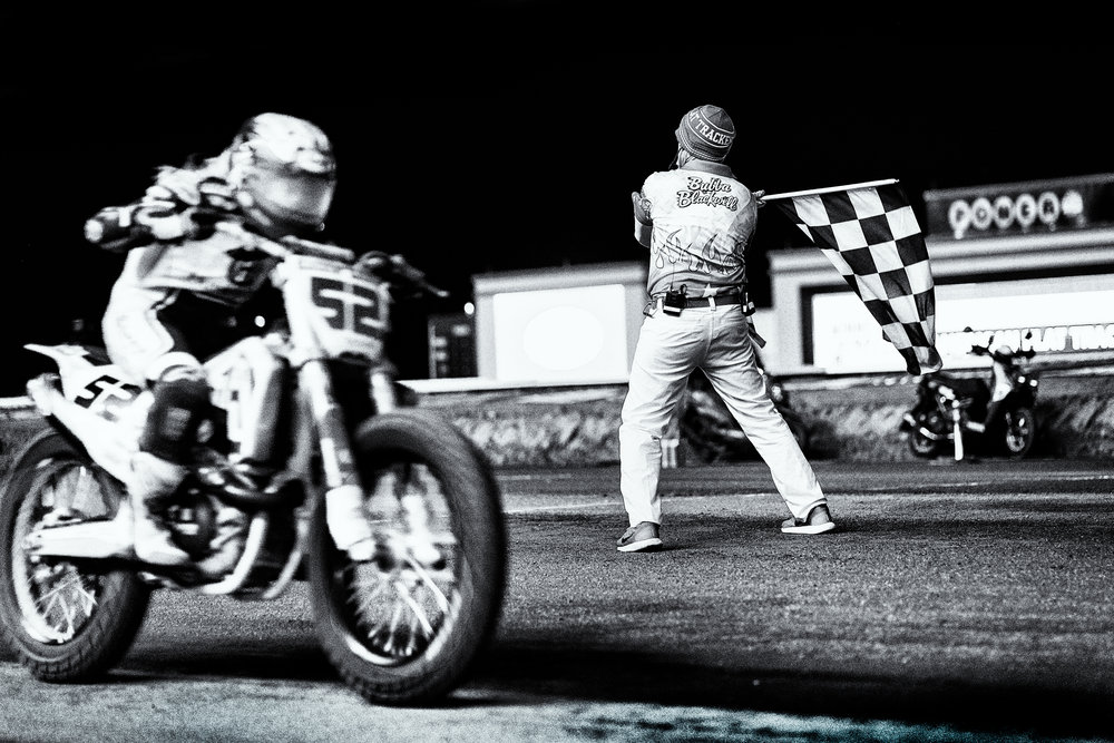 American Flat Track racer, Shayna Texter finishes the Minnesota Mile at Canterbury Park, Shakopee MN
