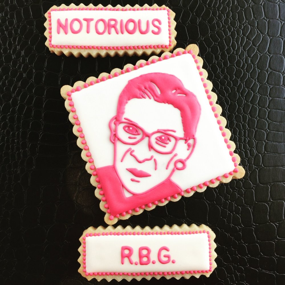 Chris Taylor of @floursugarbutter created this lovely rendition of RBG