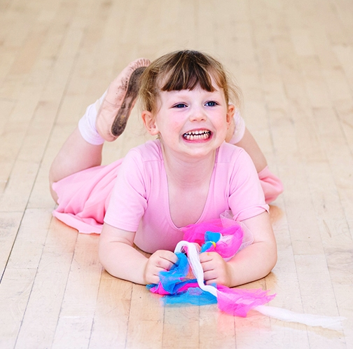 Girl in ballet class