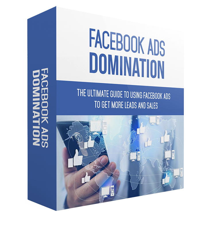 Facebook Ads Domination Course - This is no ordinary course!  Inside this Facebook Ads Domination Course you're going to learn everything you need to know about Facebook Ads!Included in this incredible course is:10 eBooks taking you through each stage of Facebook AdsAccompanying checklist to keep you on trackFacebook Ads Resource CheatSheetMindmap - a 'birds eye view' of Facebook Ads