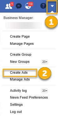 (How to access the Ads Manager from your Facebook account)