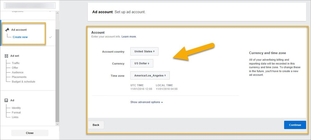 (Set up your ad account in the Facebook Ads Manager)