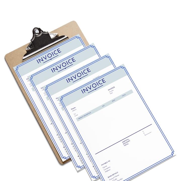 Blue Frame Invoice -