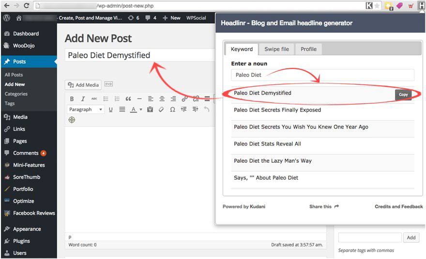 Create high converting headlines for your blog posts!