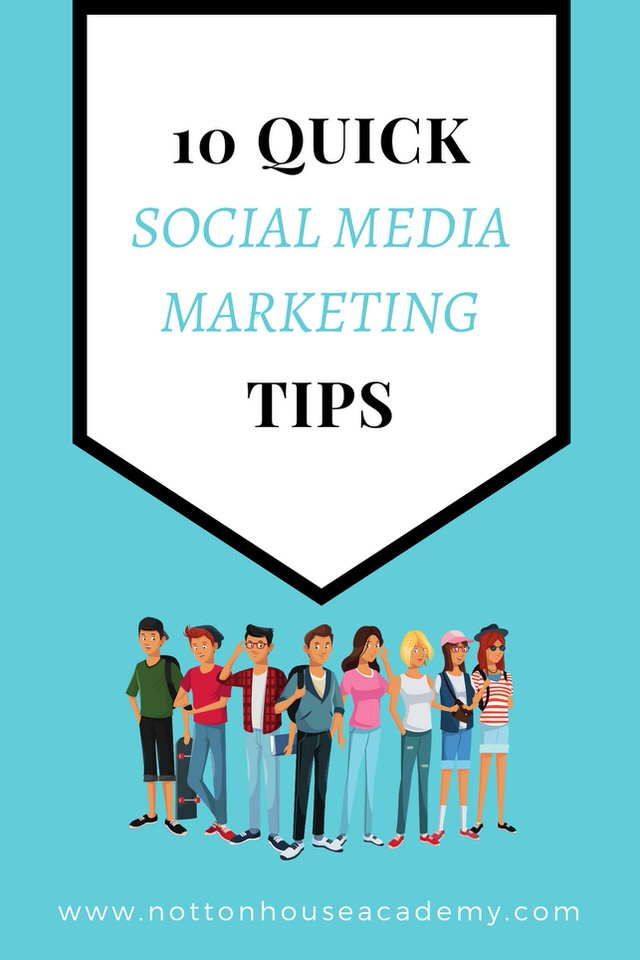 10 Quick Social Media Marketing Tips - (pin me for later!)