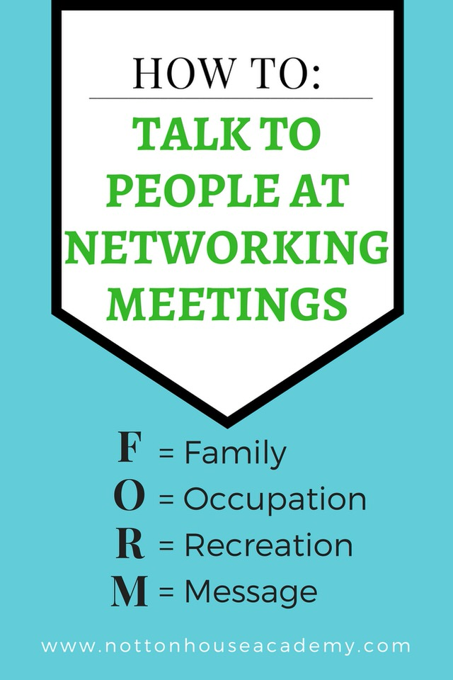 Here's a great tip to always know what to say at networking meetings! Never be stuck for words again!