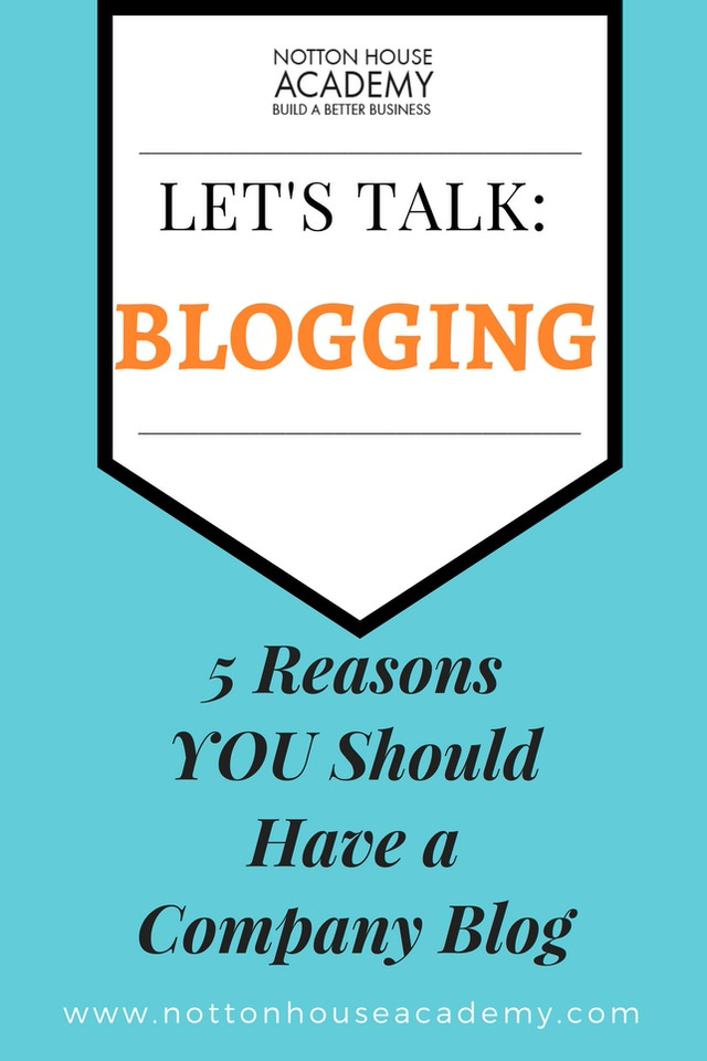 Do you need a blog for your business?  Here's 5 Reasons why you should!