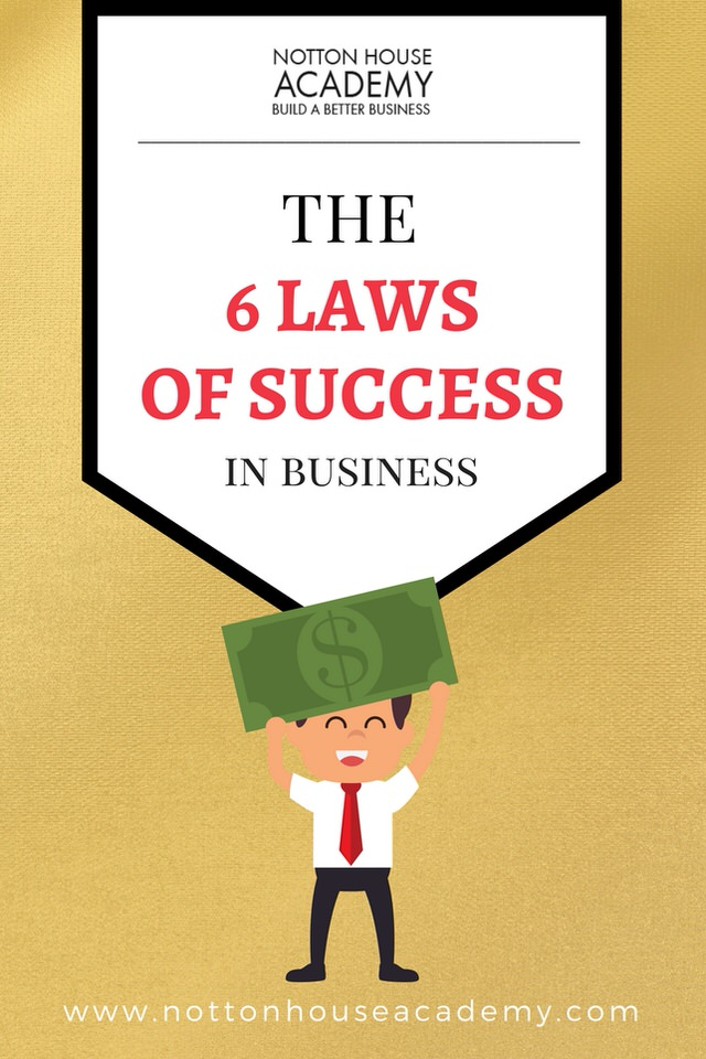 6 Laws of Success in Business - Pin me for later!