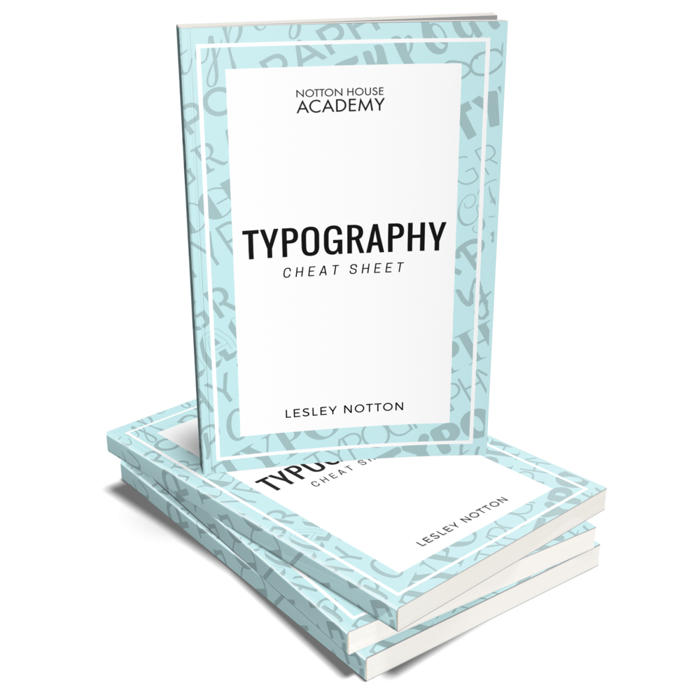 Grab your FREE Typography Cheat Sheet here! -