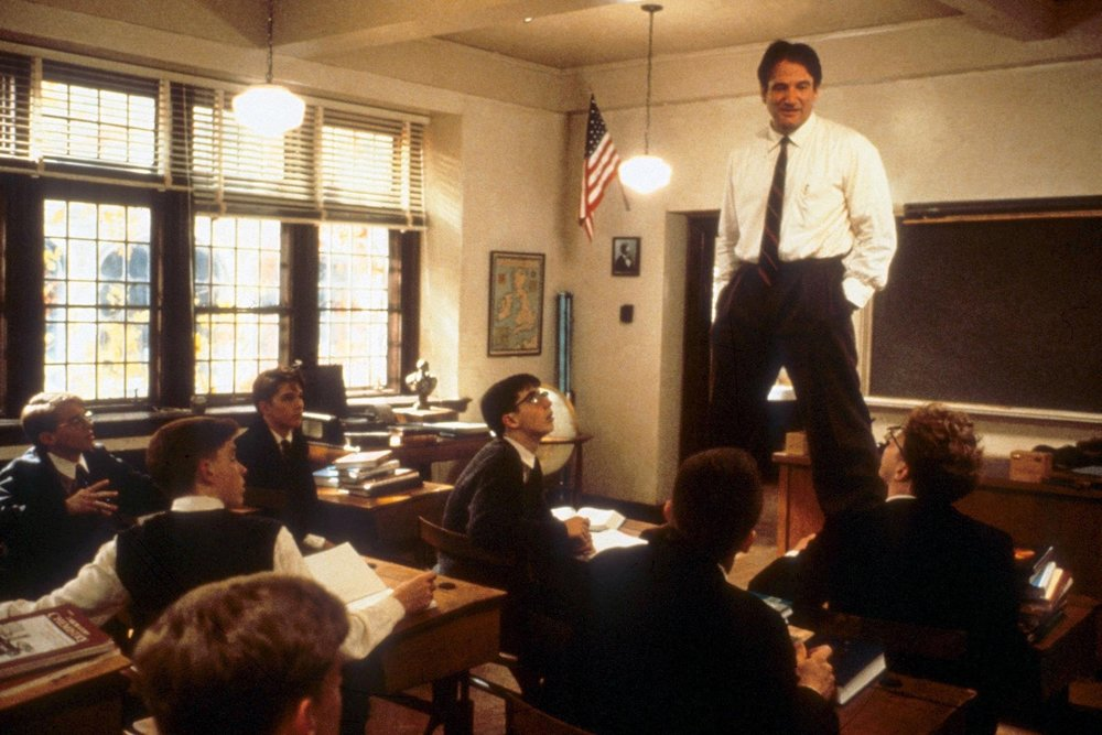 Dead Poets Society (1989) - Directed by: Peter WeirWritten by: Tom Schulman