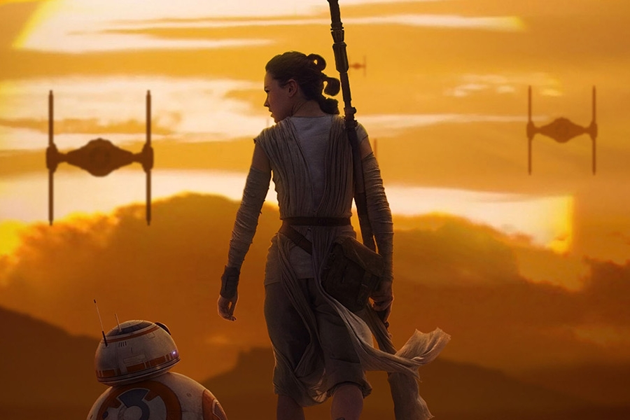 Star Wars: The Force Awakens (2015) - Directed by: J.J. AbramsWritten by: Lawrence Kasdan, J.J. Abrams & Michael Arndt