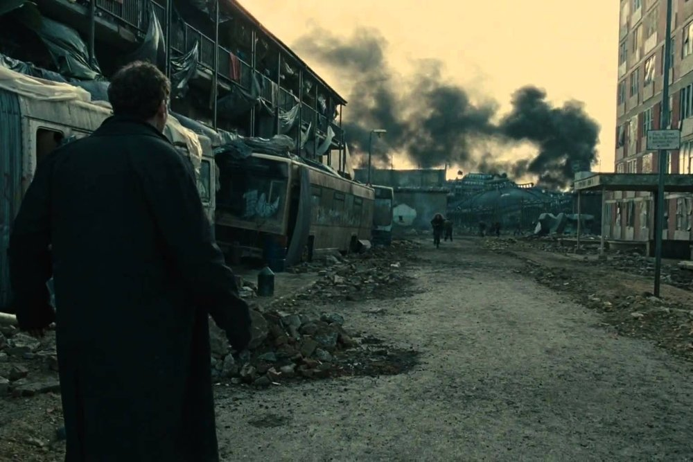 Children of Men (2006) - Directed by: Alfonso CuarónWritten by: Alfonso Cuarón, Timothy J. Sexton, David Arata, Mark Fergus, Hawk Ostby & P.D. James (novel).