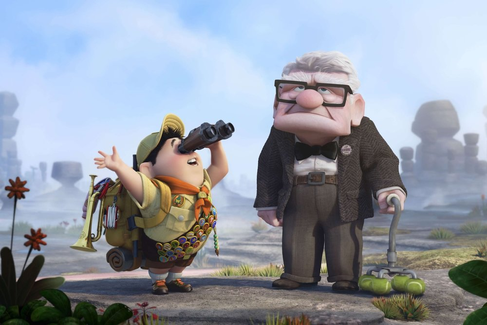 Up (2009) - Directed by: Pete Doctor & Bob PetersonWritten by: Pete Doctor & Bob Peterson