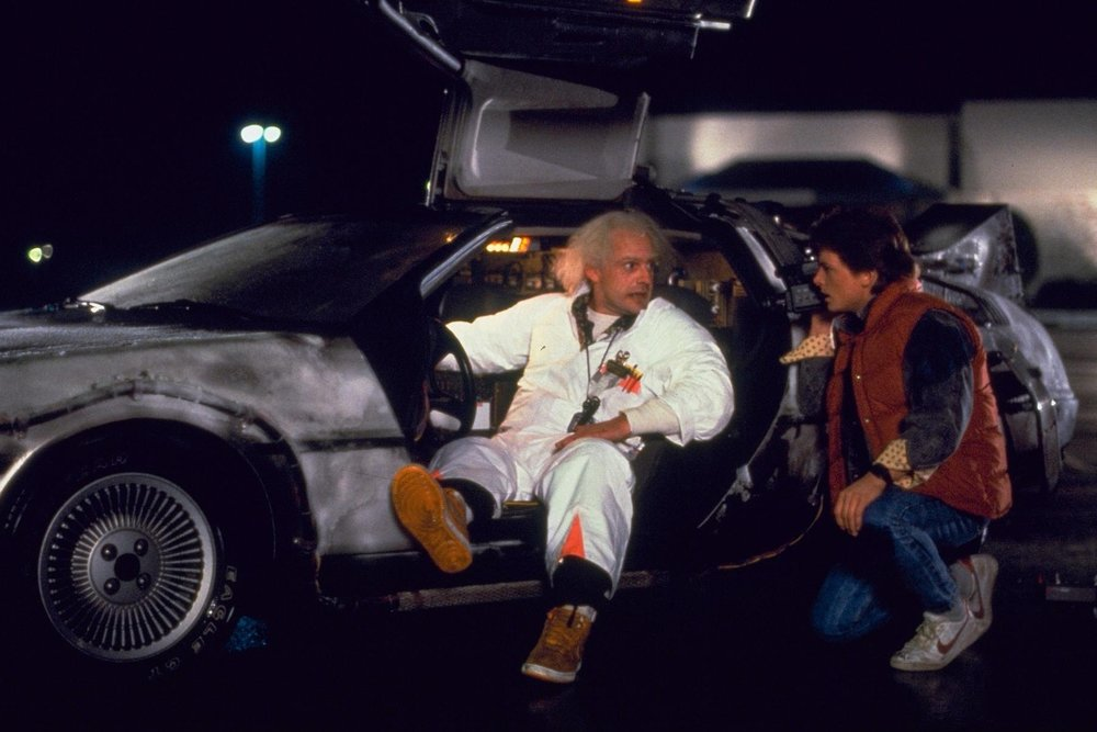 Back to the Future (1985) - Directed by: Robert ZemeckisWritten by: Robert Zemeckis & Bob Gale