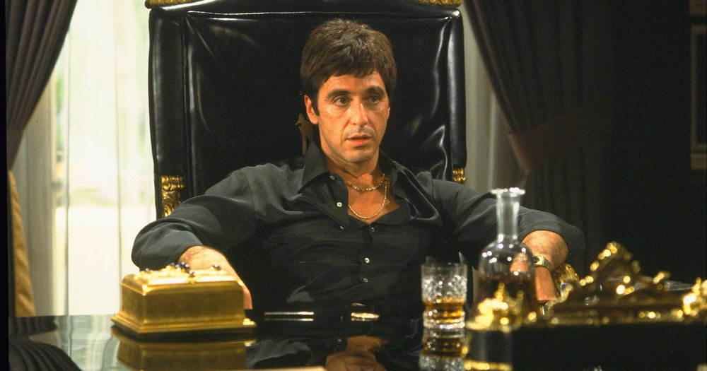 Scarface (1983) - Directed by: Brian De PalmaWritten by: Oliver Stone