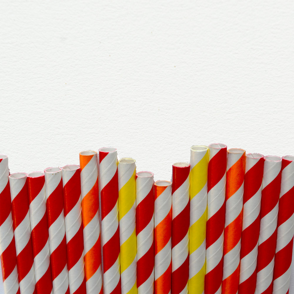 PAPER STRAWS - Biodegradable and available in a wide range of colours and patterns - we love these straws! And they're an easy switch!