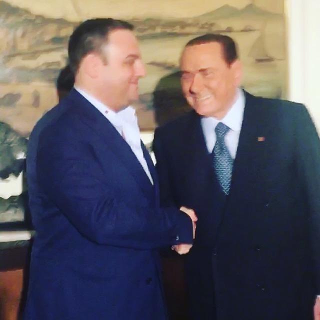 Leonardo Ciccopiedi con Silvio Berlusconi Napoli Forza Italia Benevento