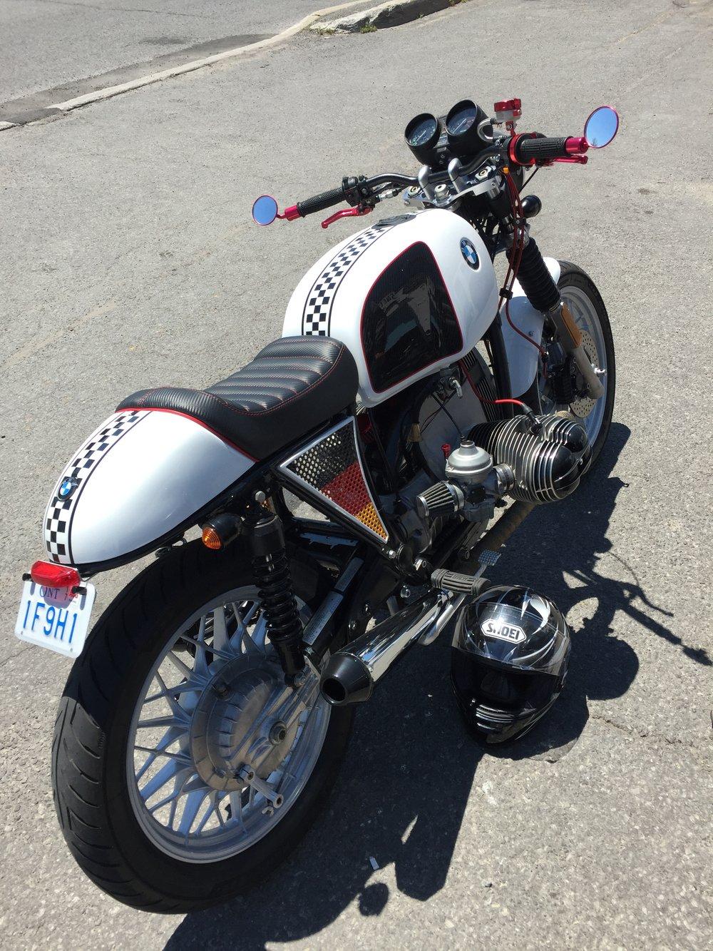 BMW Cafe Racer Custom Bike Made by Sketchs Ink Ottawa Canada