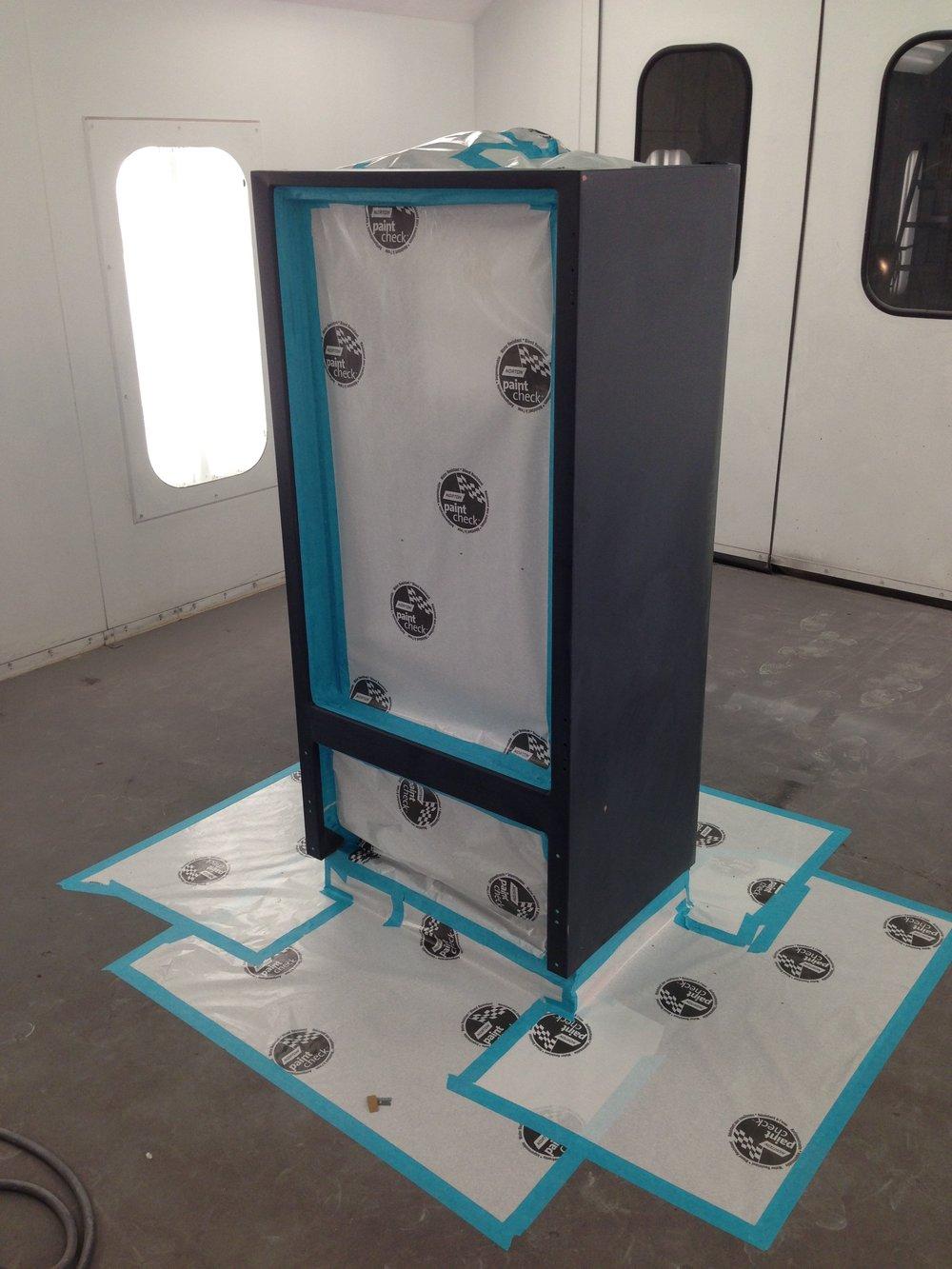 Budweiser custom beer fridge painted by Sketchs Ink customs Ottawa Ontario