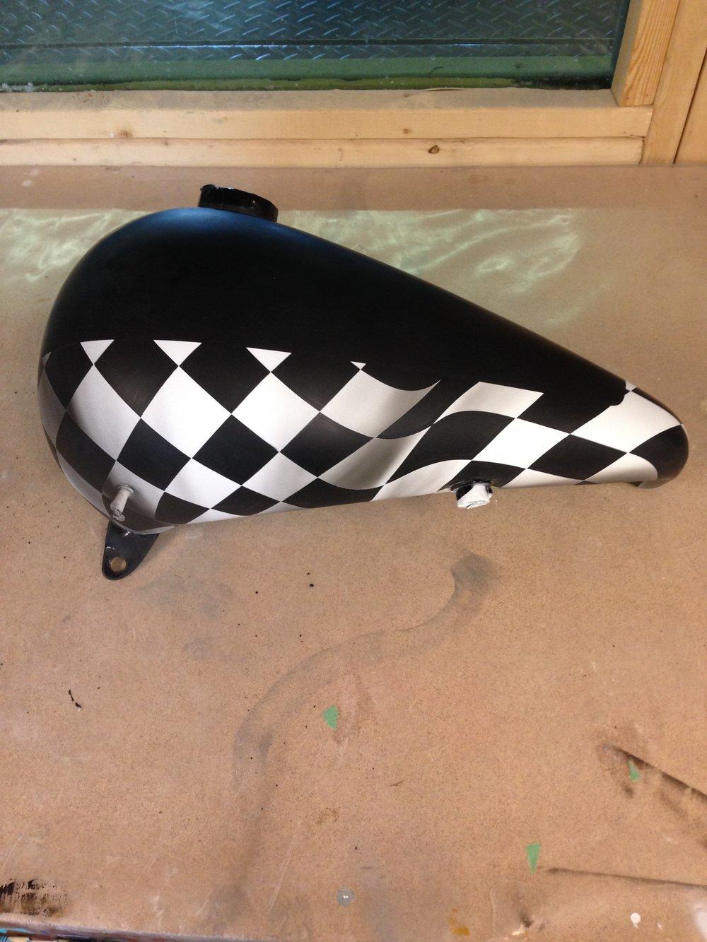 Custom Harley Davidson Tank Painted by Sketchs Ink