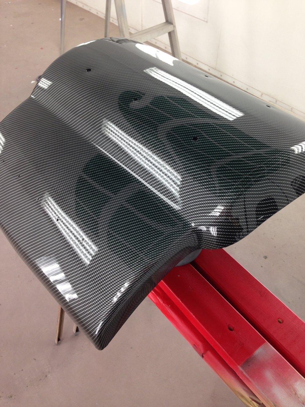 Carbon Fiber Dip Wrap hydrographic Engine v8 v6 I6 Cover