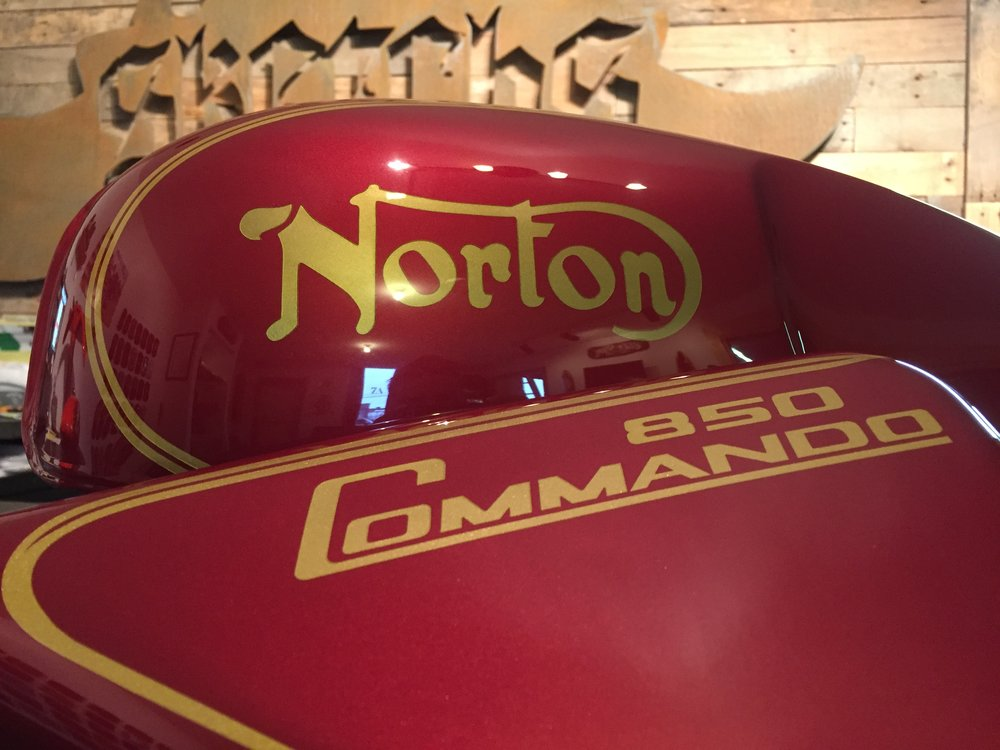 Custom 1974 Norton Commando Restoration by Sketchs Ink Ottawa Ontario