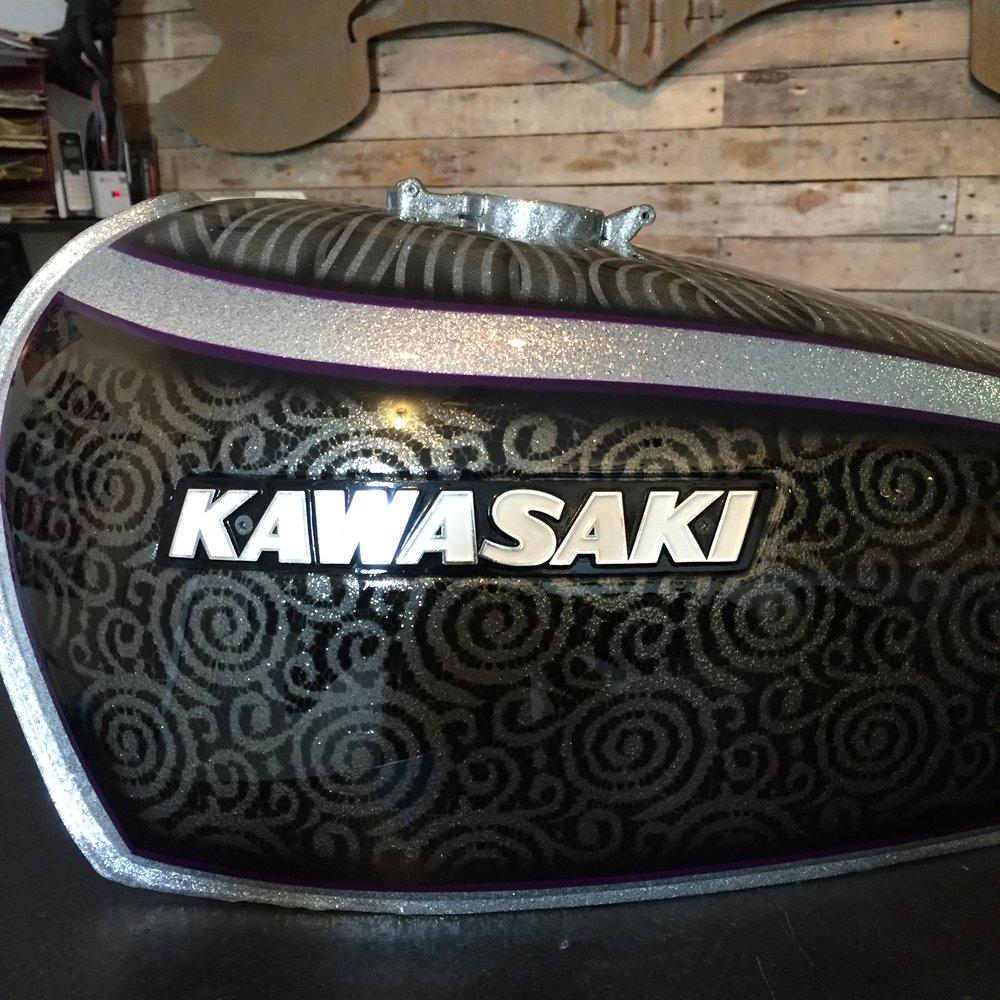 Kawasaki Cafe Racer Gas Tank