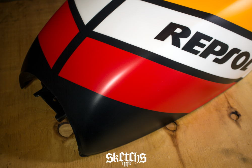 Custom Honda Repsol Themed Gas Tank