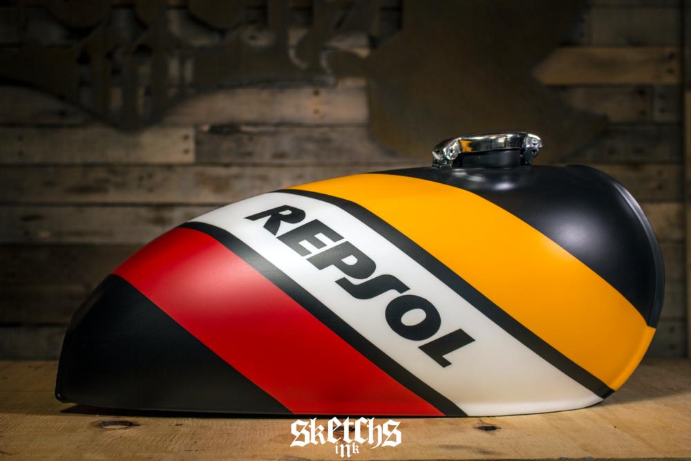 Custom Honda Repsol Themed Gas Tank