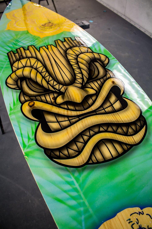 Hawaiian Surfboard Showroom Piece