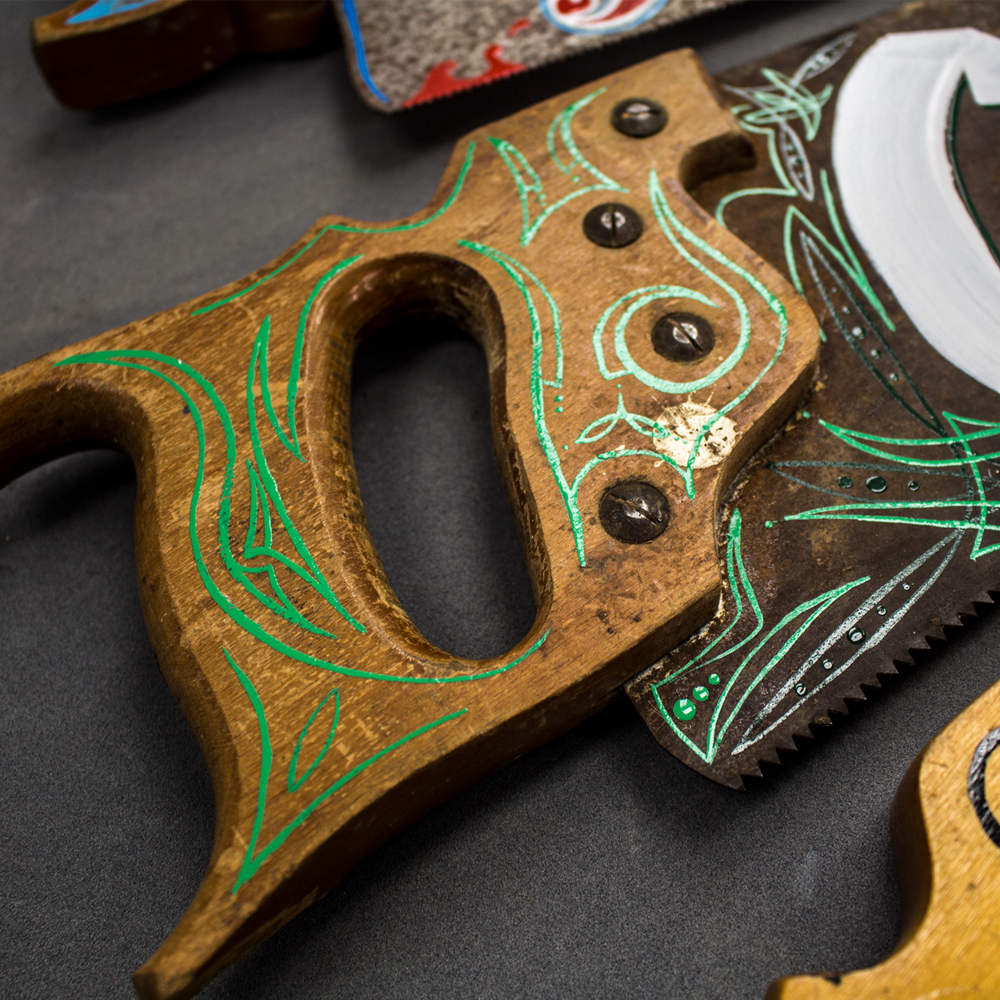 Old School Hand-Painted Saws
