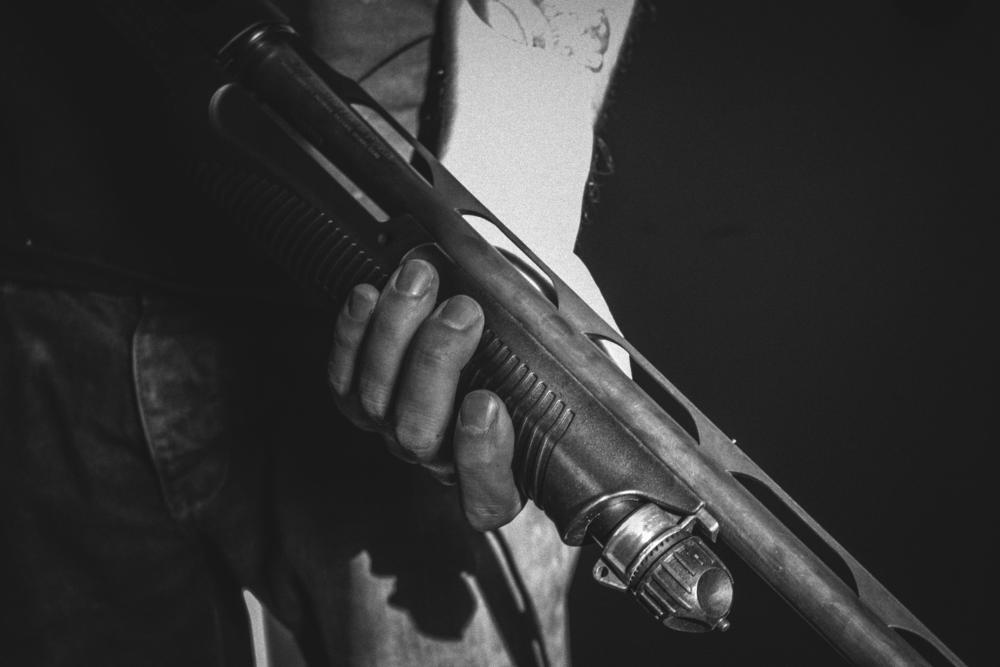 black shotgun