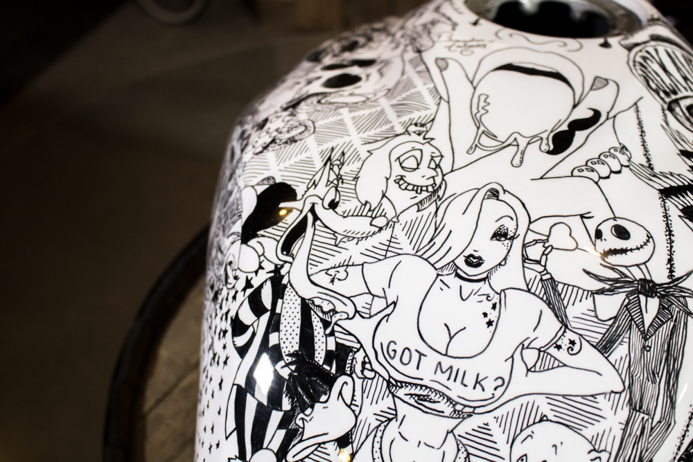(NSFW) Buell motorcycle painted with a sharpie by Sketchs Ink Ottawa Canada