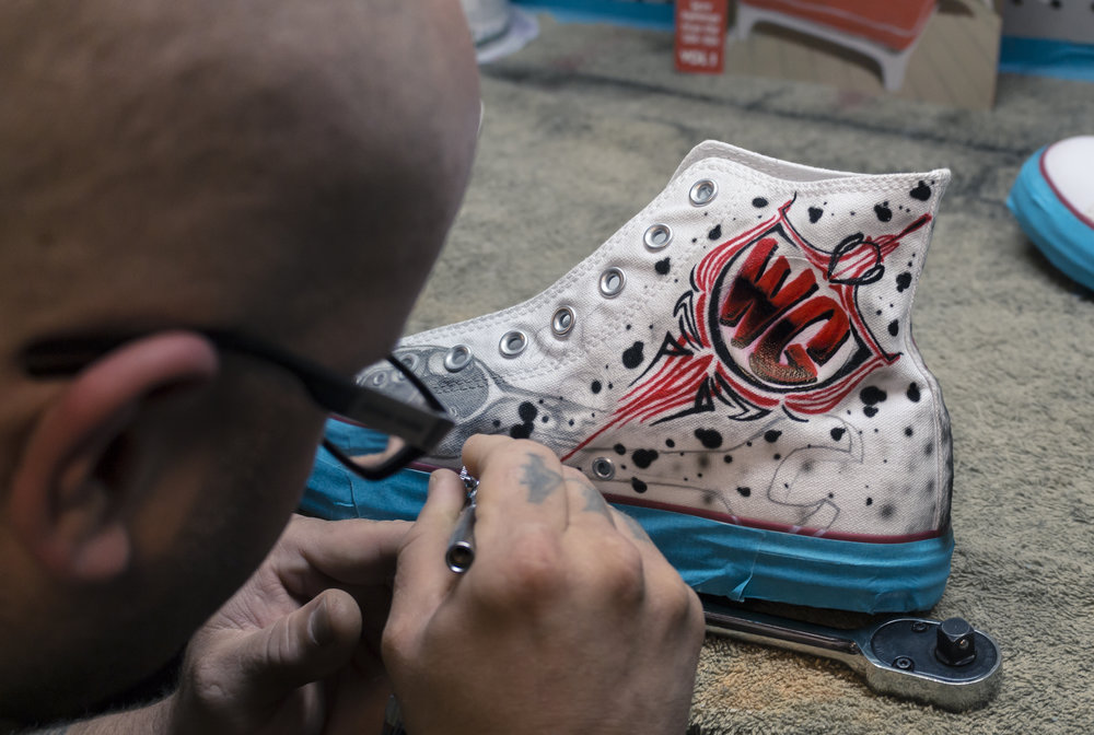 Customizing Converse Chuck Taylors | Photo by Jeremy Constantineau